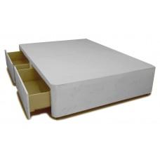 2 (Same Side) Drawer 4ft 120cm Small Double Divan Base