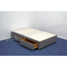 2+2 Continental Drawer 4ft 120cm Small Double Divan Base